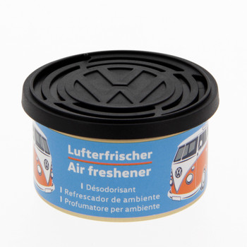 Volkswagen Campervan Air Freshener Tin - Bubble Gum Light Blue