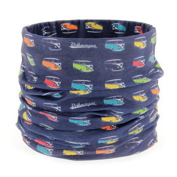 Volkswagen Campervan Navy Colours Face Mask Scarf
