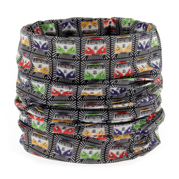 Volkswagen Campervan Black Multi Coloured Face Mask Scarf