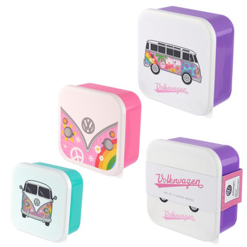 Volkswagen Campervan Summer Love Set of 3 Lunch Boxes