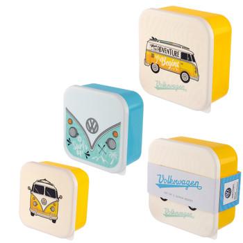 Volkswagen Campervan Adventure Begins Set of 3 Lunch Boxes