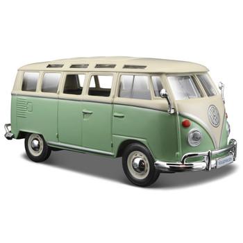 VW Green and White Samba Diecast Campervan