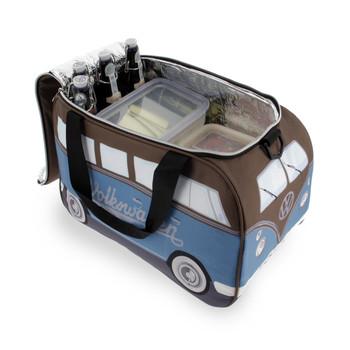 Volkswagen Campervan Brown & Petrol Blue Thermal Cool Bag