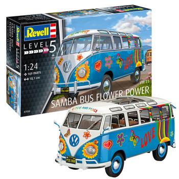 Volkswagen Revell Samba Flower Power Campervan Model Kit