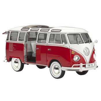 Volkswagen Revell Samba Red Campervan Model Kit