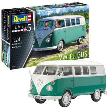 Volkswagen Revell T1 Bus Green Campervan Model Kit