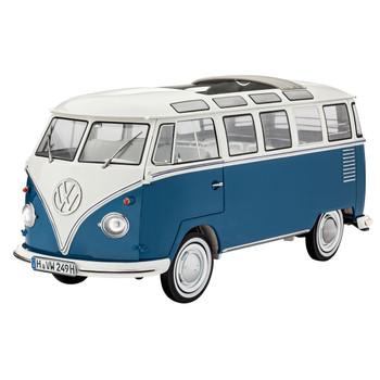 Volkswagen Revell Type 2 Samba Blue Campervan Model Kit
