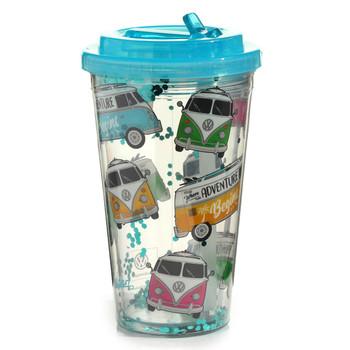 Volkswagen Campervan Adventure Begins Shatterproof Cup with Straw