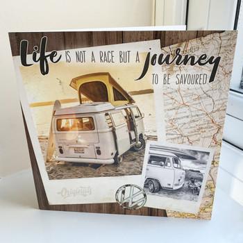 Volkswagen Campervan Journey Savoured Greetings Card