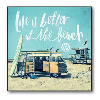 Volkswagen Campervan Better at the Beach Greetings Card