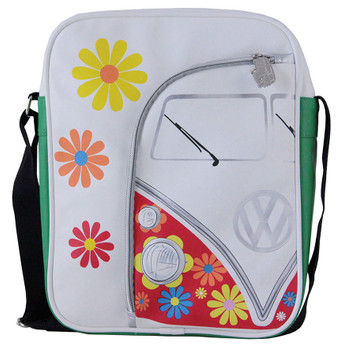 VW Retro Flowers Campervan Shoulder Bag
