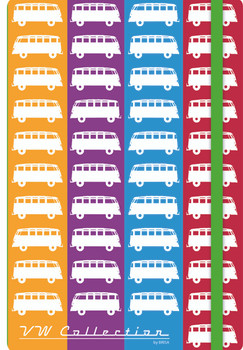 VW Multi Coloured Campervan Diary Notebook