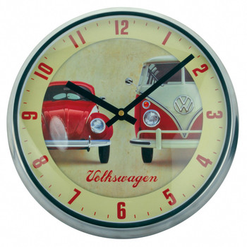Official VW Vintage Campervan Beetle Wall Clock