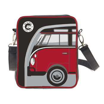 Small Retro Red and Black Campervan Tablet Shoulder Bag
