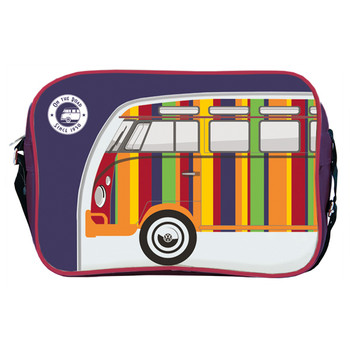 Retro Striped Campervan Shoulder Bag
