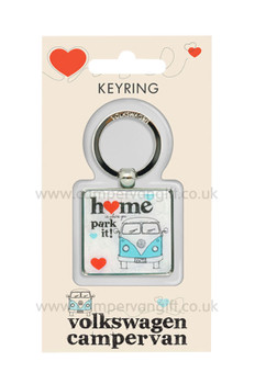 VW Campervan Home Is Where You Park It Keyring