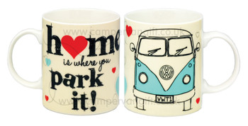VW Home Is Where You Park It Campervan Mug