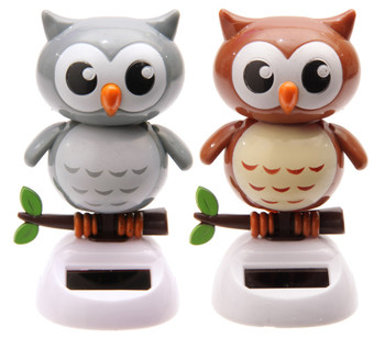 Solar Powered Dancing Owls
