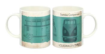 VW Vintage Green Samba Campervan Mug