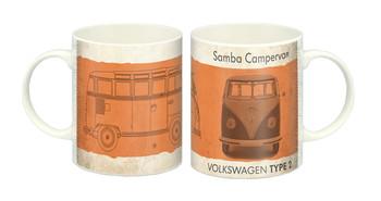 VW Vintage Orange Samba Campervan Mug