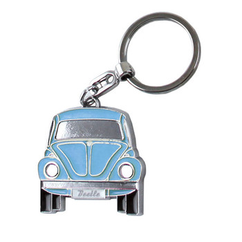 Official VW Blue Beetle Metal Keyring - Includes Gift Tin Case