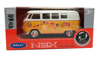 Yellow Diecast Campervan Pull Back & Go Toy Model