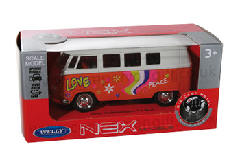 Red Diecast Campervan Pull Back & Go Toy Model