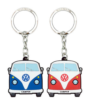 VW Campervan Rubber Keyring - Front View