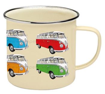 VW T1 Campervan Colours Enamel Tin Mug