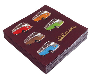 Volkswagen T1 Campervan Colours Napkins