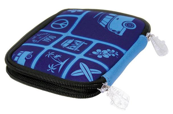 Volkwagen Blue Campervan Zipper Wallet
