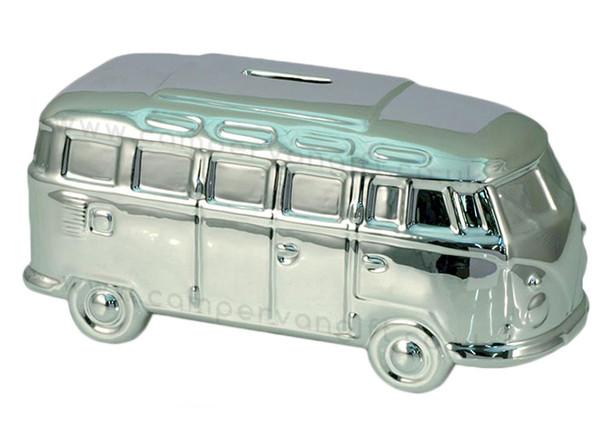Chrome VW Campervan Money Box