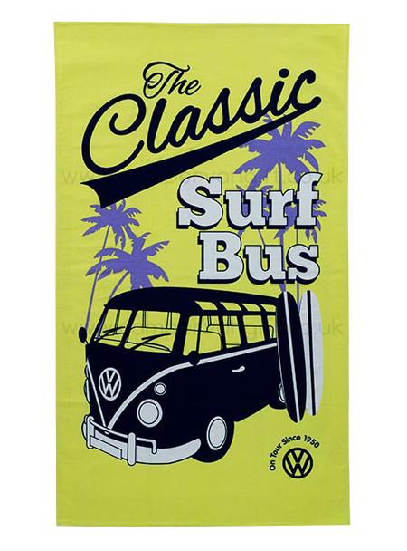 VW Classic Surf Yellow Campervan Tea Towel