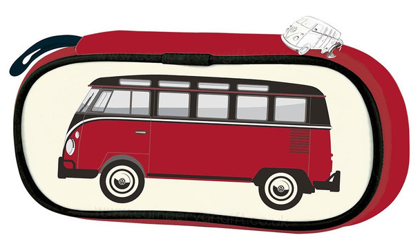 VW Red T1 Campervan Pencil / Cosmetic Case