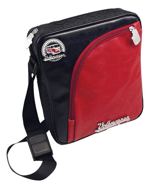 Tyre Tread VW Campervan Red & Black Shoulder Bag - Medium