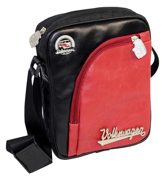 Tyre Tread VW Campervan Red & Black Shoulder Bag - Small