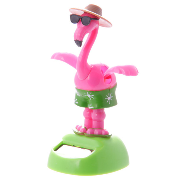 Solar Powered Dancing Flamingo with Sunglasses