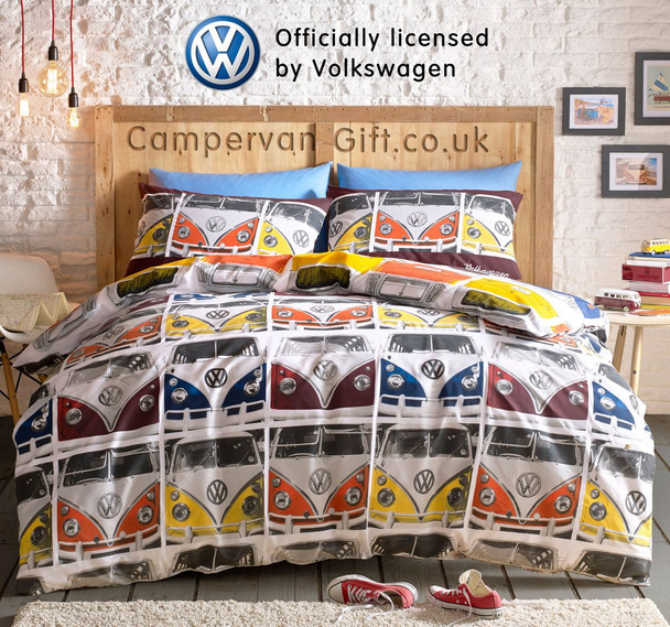 Volkswagen Campervan VDub Duvet and Pillow Case Set