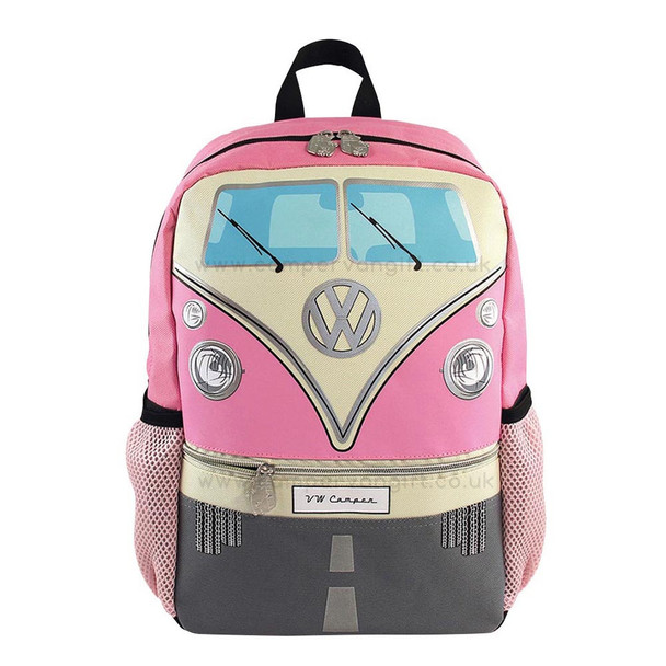 Volkswagen Front Campervan T1 Small Backpack - Pink