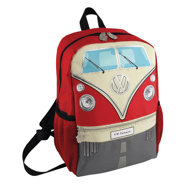 Volkswagen Front Campervan T1 Small Backpack - Red