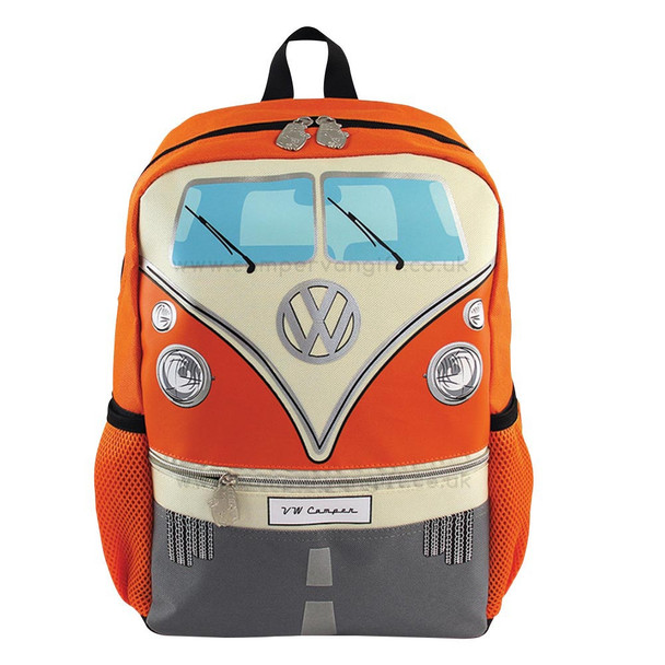 Volkswagen Front Campervan T1 Small Backpack - Orange