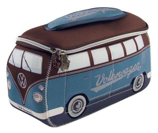 VW Brown & Petrol Blue Campervan Universal Neoprene Wash Bag