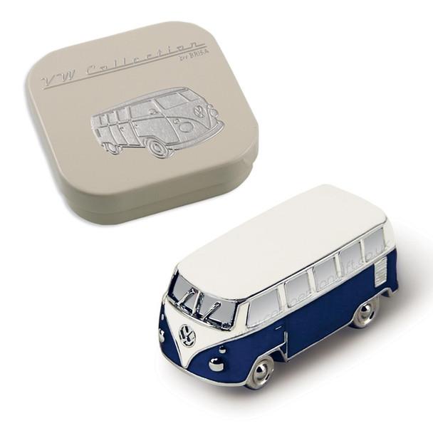 VW Campervan 3D Magnet - Includes Gift Tin Case - Blue