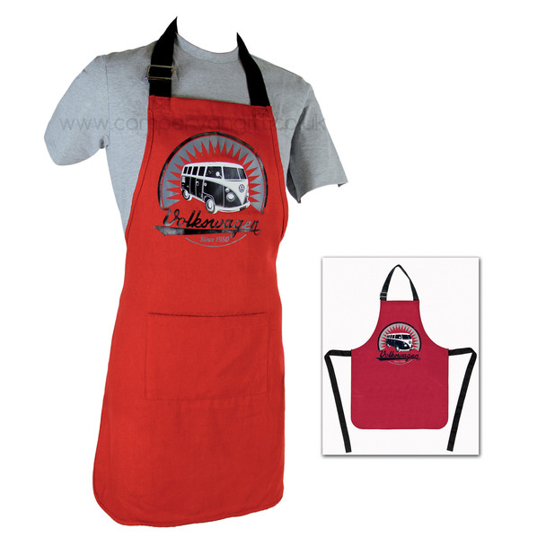 Volkswagen T1 Campervan BBQ Cooking Apron - Red