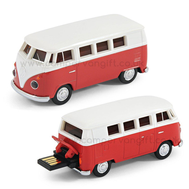 VW Red Campervan 8GB USB Memory Stick