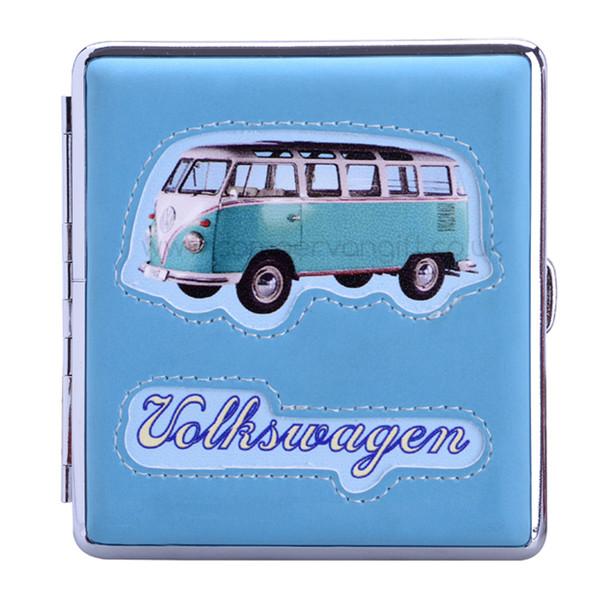 VW Campervan Sideview Cigarette Case - Light Blue