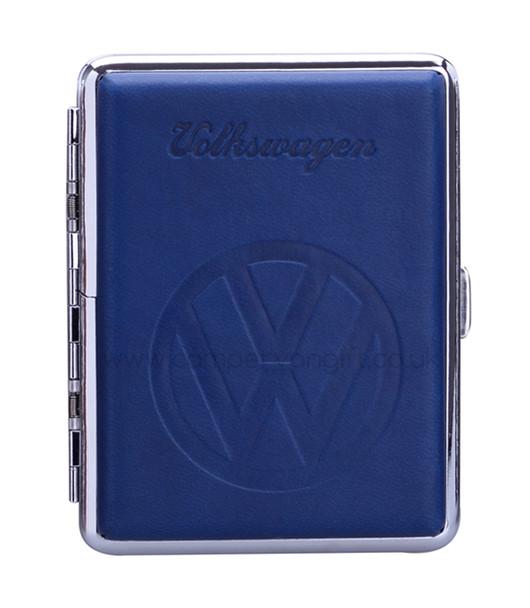 Luxury Embossed VW Campervan Cigarette Case - Blue