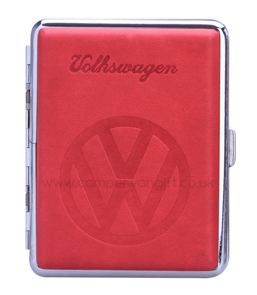 Luxury Embossed VW Campervan Cigarette Case - Red