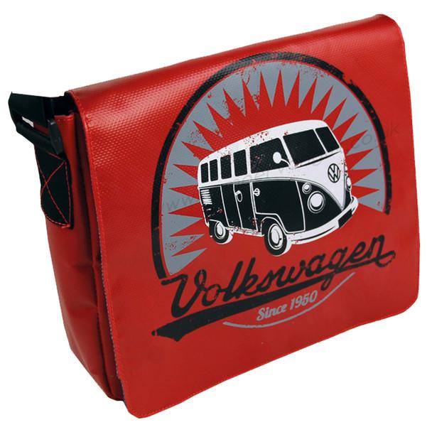 Tarpaulin VW Campervan Shoulder Bag - Small - Red