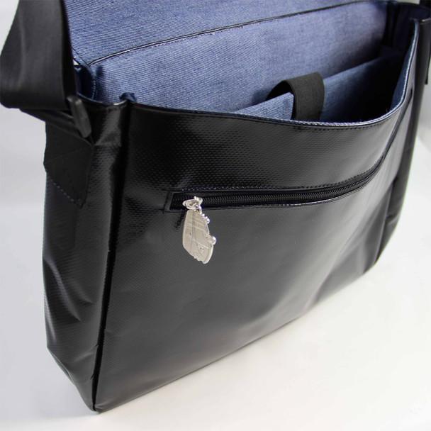 Tarpaulin VW Campervan Shoulder Bag - Internal Denim Lining